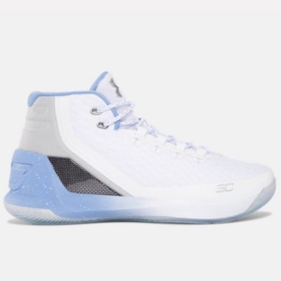 UNDER ARMOUR CURRY 3 Kids Boys Basketball Shoes White//Blue SC steph curry